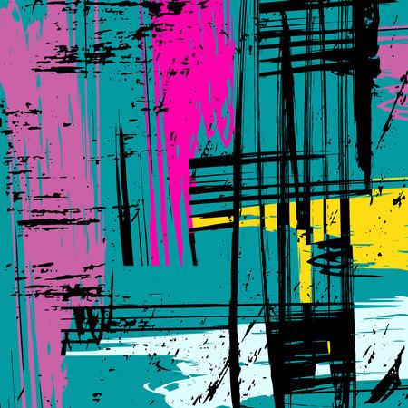 Beautiful colorful abstract graffiti polygons vector illustration