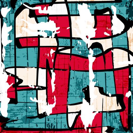 Beautiful abstract dark graffiti pattern vector illustration