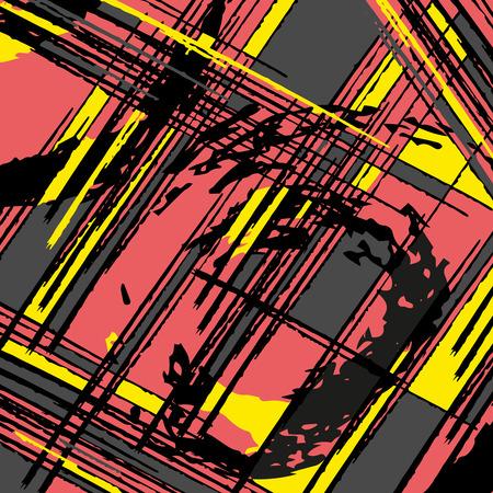 A beautiful abstract pattern psychedelic graffiti Illustration