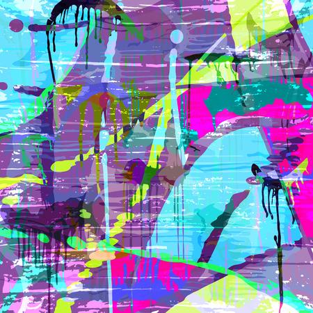 Psychedelic graffiti pattern for your design. Ilustração