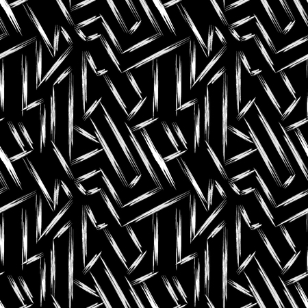 Fine lines on a black background abstract seamless vector pattern in graffiti style qualitative vector illustration for your design.