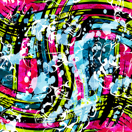 geometric abstract color pattern in graffiti style. Quality vector illustration for your design 矢量图像