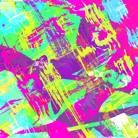 geometric abstract color pattern in graffiti style. Quality vector illustration for your design  イラスト・ベクター素材
