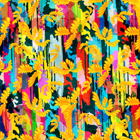 Abstract color pattern in graffiti style quality vector illustration for your design.