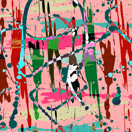 abstract color pattern in graffiti style Quality vector illustration for your design Vettoriali