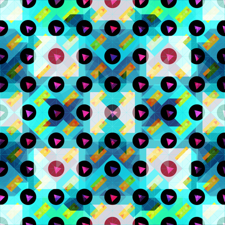 beautiful colored polygons seamless pattern vector illustration