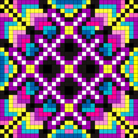 colored pixel psychedelic background illustration