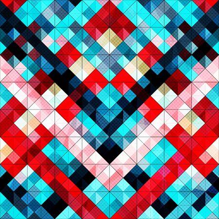 kleine farbige Polygone abstraktes geometrisches Muster