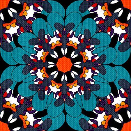 Oriental colorful ornament seamless pattern illustration Stock Photo