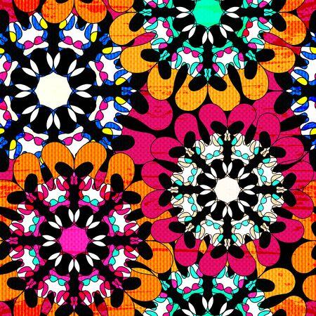 Mandala. Vintage decorative elements. seamless pattern. Archivio Fotografico - 137128428