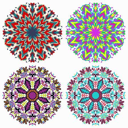 Mandalas collection. Vintage decorative elements Archivio Fotografico - 137128439