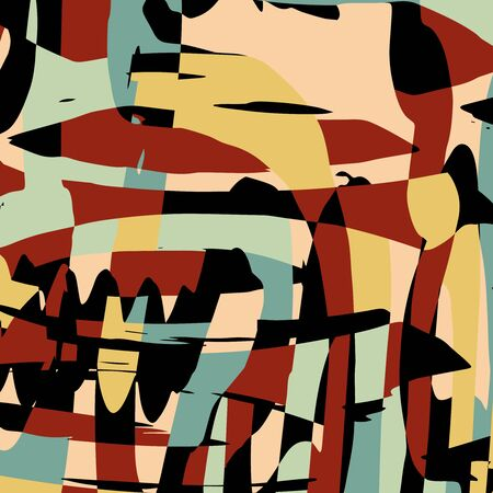 abstract color pattern in graffiti style Quality illustration for your design Archivio Fotografico - 137128441