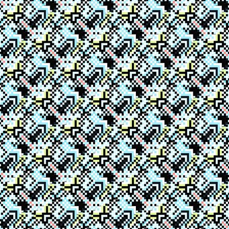 pixels beautiful abstract geometric seamless pattern illustration Archivio Fotografico - 137128247