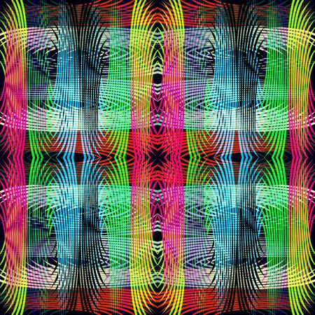 thin lines colored abstract geometric pattern