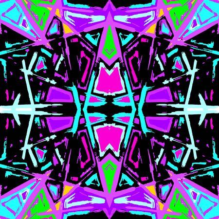 psychedelic colored graffiti pattern illustration Archivio Fotografico - 137128006