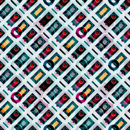 polygons and circles on a light background seamless pattern Reklamní fotografie