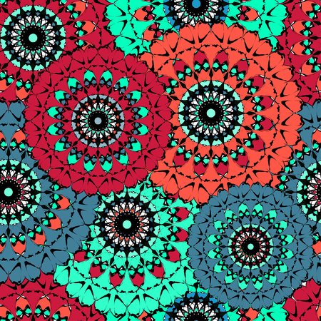 abstract seamless pattern mandala vintage tribal background