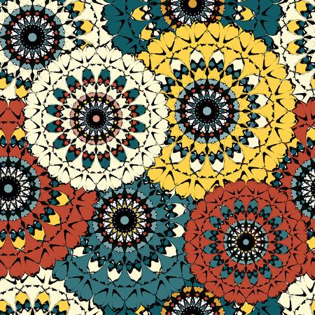 beautiful color mandala seamless vintage tribal the national seamless pattern