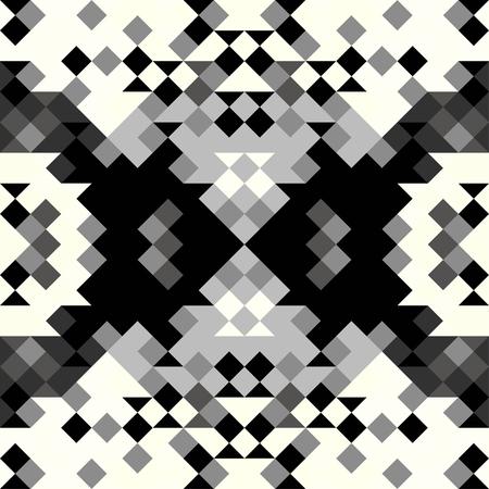 monochrome pixels are small geometric pattern