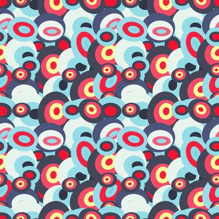 illustration de motif géométrique coloré abstrait