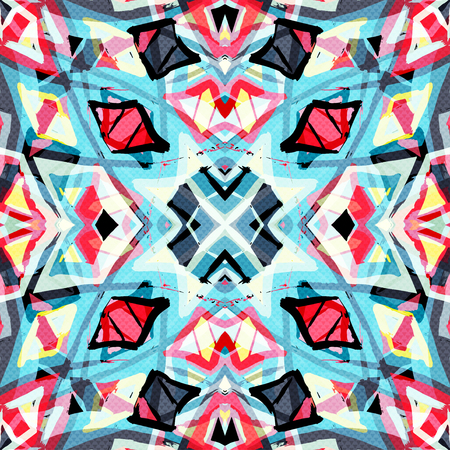 abstract geometric background illustration Foto de archivo - 122346596