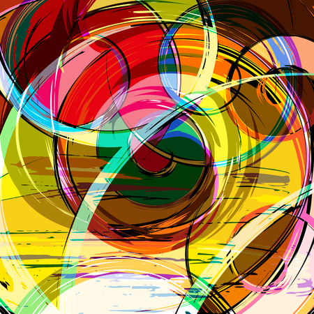 abstract color pattern in graffiti style quality illustration for your design Ilustración de vector