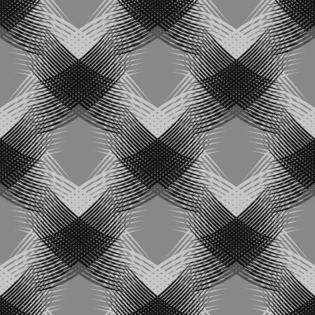 black and white seamless quality pattern Illustration