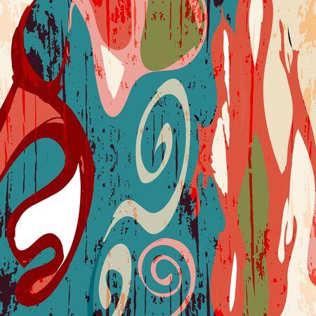 Abstrakter geometrischer farbiger Hintergrund im Stil von Graffiti. Qualitative Illustration für Ihr Design