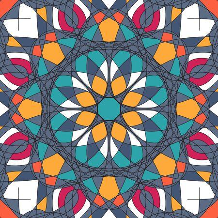 Ornament beautiful pattern with mandala illustration Stock Photo