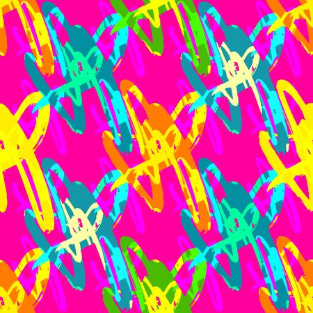 Bright abstract geometric seamless pattern in graffiti style quality illustration for your design Illusztráció