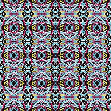 vintage tribal seamless pattern Banco de Imagens