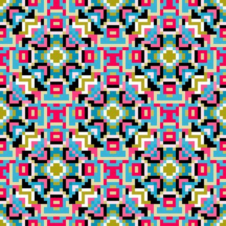 polygons psychedelic colored geometric background pixels Banco de Imagens