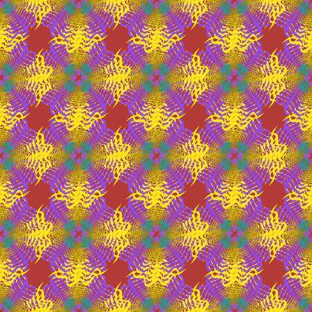 Graffiti on a geometric background seamless pattern Banco de Imagens