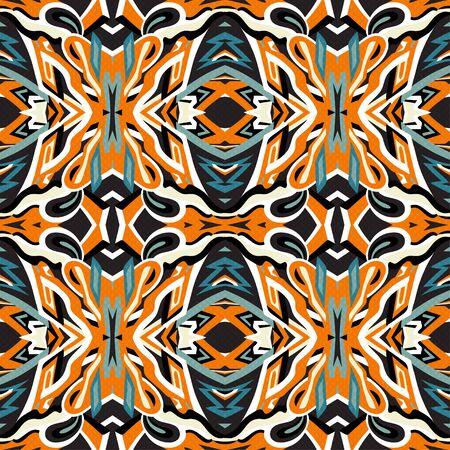 seamless pattern vintage ethnic ornament illustration