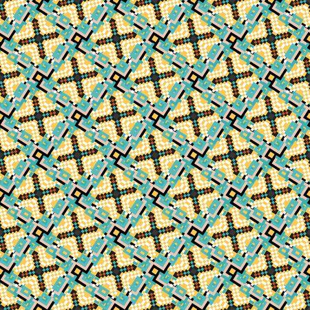 pixels colored geometric seamless pattern illustration