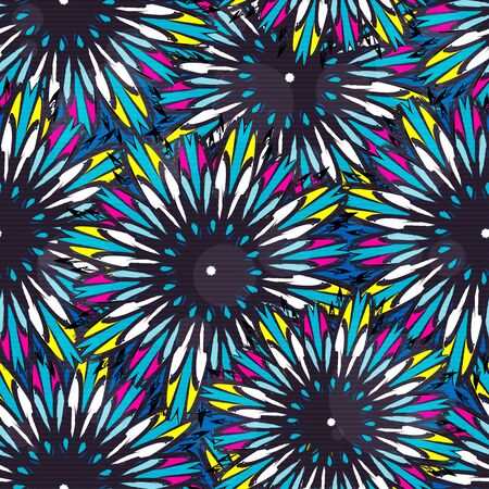 Ornamental seamless pattern background with many details ethnic traditional ornament