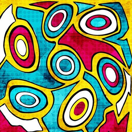 abstract geometric objects graffiti grunge effect Banco de Imagens