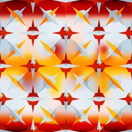 abstract colorful geometric pattern illustration Banco de Imagens