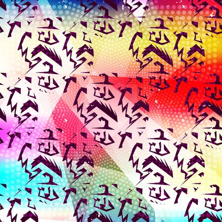 abstract psychedelic geometric pattern Banco de Imagens