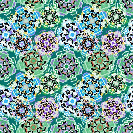 pixel abstract geometric pattern Banco de Imagens