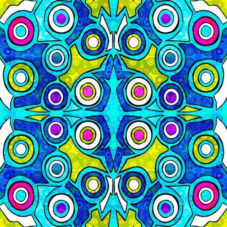 geometric abstract pattern illustration of graffiti