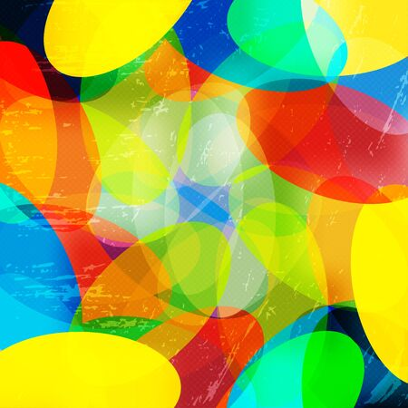 bright color abstract geometric background illustration Banco de Imagens
