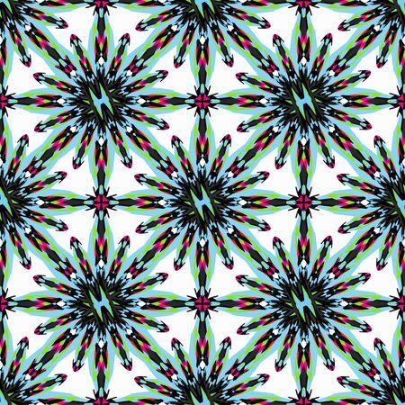 Ornament beautiful pattern with mandala illustration Banco de Imagens