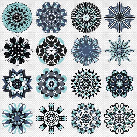 mandala symbol illustration collection Banco de Imagens