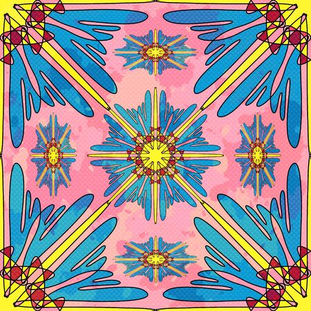 Seamless pattern. Vintage decorative elements illustration