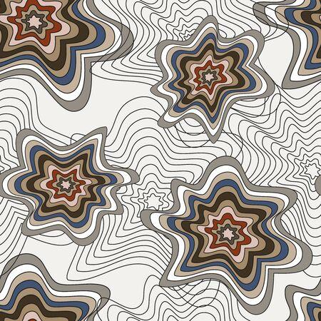 abstract geometric seamless pattern grunge texture Ilustração