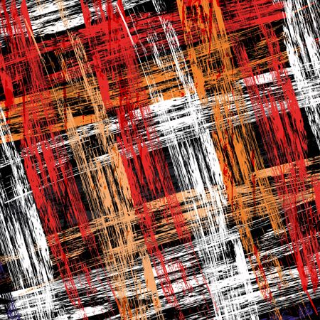 brightly colored lines Graffiti on a black background illustration