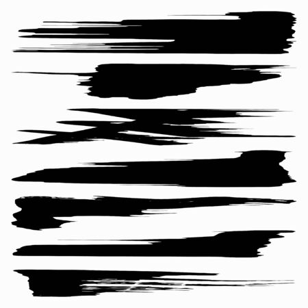 Black ink brush strokes 版權商用圖片