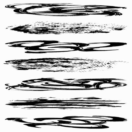 Set of grunge brush strokes Фото со стока