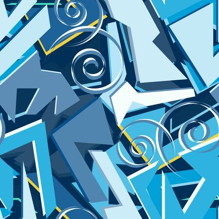 Vintage seamless illustration in graffiti style for your design 일러스트